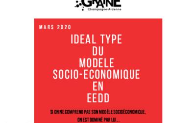 Livret – Idéal type du modèle socio-économique des structures d'EEDD
